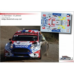 Décal Ford Fiesta R5 - A. Fourmaux  - Rallye Monte Carlo 2019