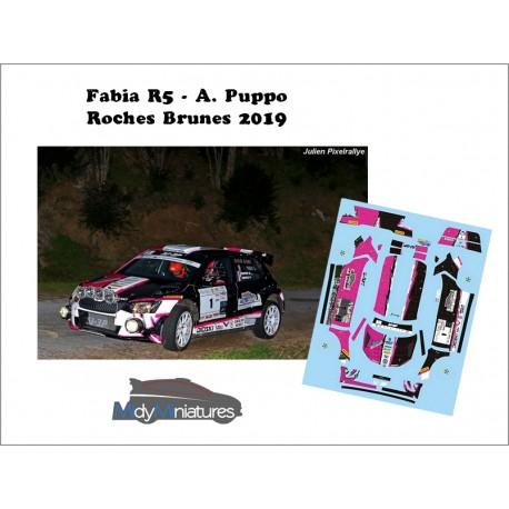 Décal Skoda Fabia R5 - A. Puppo  - Rallye des Roches Brunes 2019