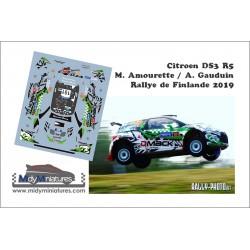 Décal Citroën DS3 R5 - M. Amourette - Rallye de Finlande 2019