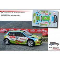Décal Skoda Fabia R5 - JB. Franceschi  - Rallye Val Merula 2019