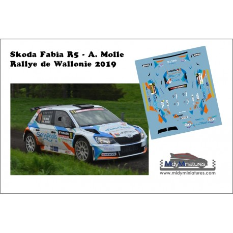 Décal Skoda Fabia R5 - A. Molle - Wallonie 2019