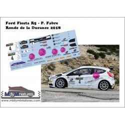 Décal Ford Fiesta R5 - P. Fabre - Durance 2018