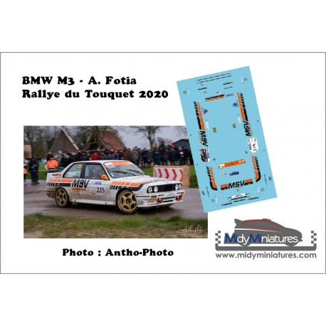 Décal BMW M3 - A. Fotia - Rallye du Touquet 2020