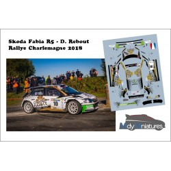 Décal Skoda Fabia R5 - D. Rebout - Rallye Charlemagne 2018