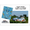 Décal Peugeot 208 R2 - A. Molle - Rallye d'Ypres 2019