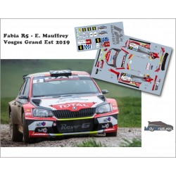 Décal Fabia R5 - E. Mauffrey  - Rallye Vosges Grand Est 2019