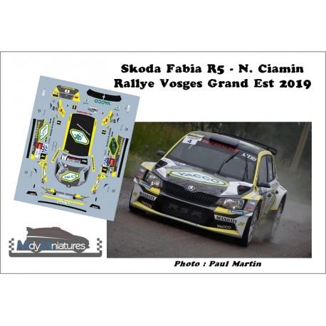 Décal Fabia R5 - N. Ciamin  - Rallye Vosges Grand Est 2019