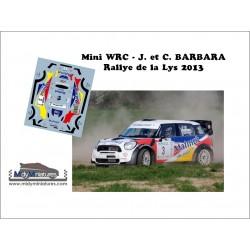 Décal Mini WRC - J. Barbara - Rallye de la Lys 2013