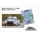 Décal Skoda Fabia R5 - A.Puppo - Rallye d'Antibes 2017