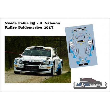 Décal Skoda Fabia R5 - D. Salanon - Rallye Baldomérien 2017